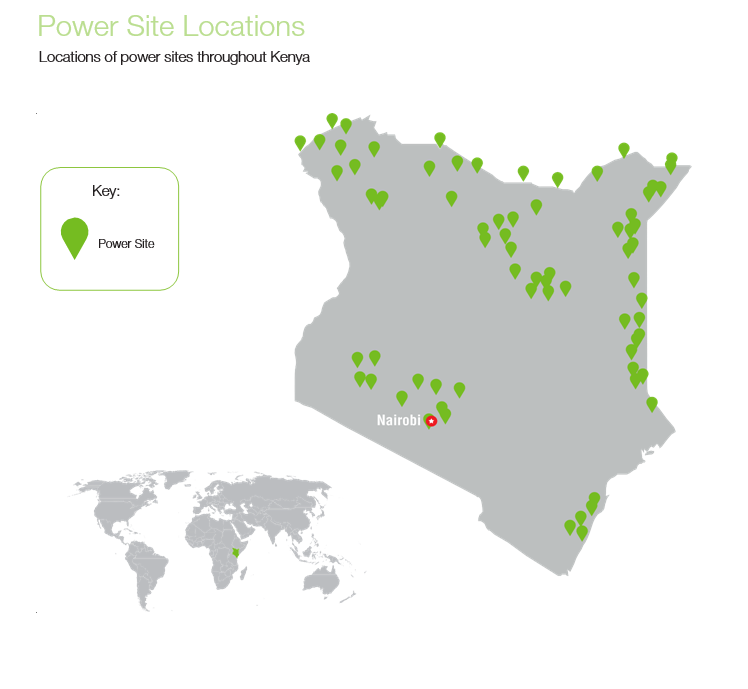 Safaricom map